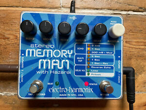 Electro Harmonix - Stereo Memory Man With Hazarai Guitar Delay Effects Pedal EHX