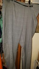 Maurices grey plaid smart pants size 22 plus NWT
