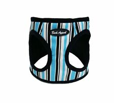 Bark Appeal Blue Stripe Canvas/Mesh Dog Step In Harness Sizes XXS-XL