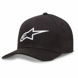 ALPINESTARS AGELESS CURVE FLEXFIT HAT YOUTH KIDS BLACK/WHITE AS088110012000