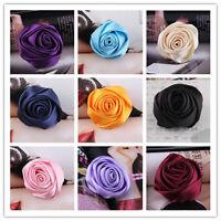 Girls Bridal Wedding Silk Rose Flower Hair Clip Barrette Brooch Girl Hair pin