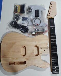 Tele Electric guitar kit guitar HUMBUCKERS DIY unbranded telecaster T SHAPE HB