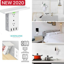 Socket Shelf Surge Protector 8 Outlet Extenders 3 USB ports Wall Outlet Electric