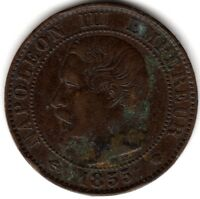 1855 MA France 5 Centimes | Pennies2Pounds