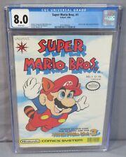 SUPER MARIO BROS. #1 (Nintendo NES) CGC 8.0 VF White Pages Valiant Comics 1990