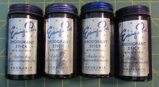 4 Vtg Evening In Paris Cobalt Blue Deodorant Stick Perfume Bottles Bourjois