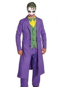 Joker Deluxe Batman Halloween Dark Knight Party Anzug Kostüm Comic Squad Gauner