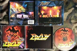 EDGUY - BURNING DOWN THE OPERA LIVE LIM DIGIBOOK 2 CD 2003 + THE SINGLES CD 2008