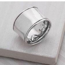 Popular Silpada Sterling Silver Hammered Cuff Ring Size 7.5 R0723 CUTE!