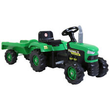 Dolu Kids Childen's Ride On Green Tractor With Trailer
