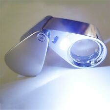 20X Lighted LED Illuminated Jewelers Jewelry Loupe Magnifying Glass Magnifier GP