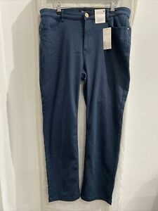 PER UNA Petrol Roma Rise Straight Jeans Size UK 16