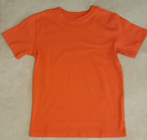Boys Orange or Poppy Red Short Sleeve Crew Neck T-Shirt: M-L-XL