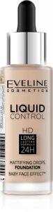 EVELINE Liquid Control podkład matujący/Mattifying foundation 010 Light Beige