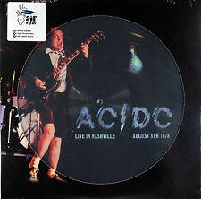 LP AC/DC - Live In Nashville 1978 180 Grammi Picture Disc Vinyl Limited Vinile