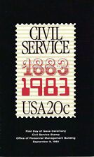 #2053 First Day Ceremony Program 20c Civil Service Stamp