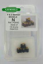 N Gauge P & D Marsh X42 Stack Of Oil Drums - Painted Model