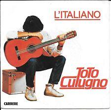 """45 TOURS / 7"""" SINGLE--TOTO CUTUGNO--L'ITALIANO / SARA--1983"""