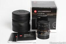 *MINT* Leica Summicron-M 50mm f2 6-bit 11826 1:2/50 LATE 475xxxx M7 M6 MP M10 MM