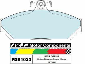 BRAKE PADS  FDB1023M TO SUIT Holden - Statesman, Monaro, H Series 1977-1984