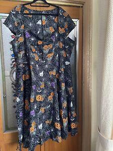 Ladies gothic / Halloween hell bunny Harlow dress sz 4XL / 22
