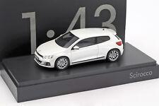VW VOLKSWAGEN SCIROCCO 2009 WHITE NOREV 1K8099300Q0K1 1/43 WEISS BLANCHE BLANC