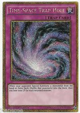 Time-Space Trap Hole PGL3-EN039 Gold Secret Rare Yu-Gi-Oh Card 1st Edition New