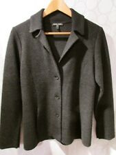 EILEEN FISHER Charcoal Wool Blend 3-Button Blazer Jacket Size S
