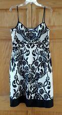 Ann Taylor Black & White Floral Dress Size 12 Petite