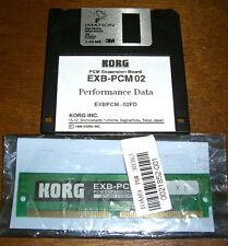 KORG EXB-PCM02 STUDIO ESSENTIALS + Floppy disk mit Performance