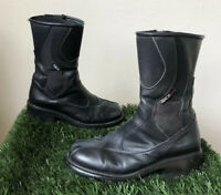 Sidi Lei Womens Boots Sz 8 Black Rose Tepor Waterproof Touring Motorcycle Zipper