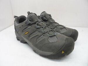 Keen Men's Low Lansing Waterproof ST Casual Hiking Shoes Grey/Black Size 8EE