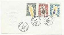 FRENCH ANTARCTIC TERRITORY Scott #46 #47 #49 on Cover 1972