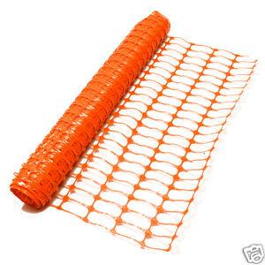 Orange Barrier Fencing Plastic Mesh Safety Netting Building Event 80gsm 1m x 25m