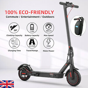 """Electric Scooter 8.5"""" Solid Tires 30KM Long-Range Adults E-Scooter Folding w/APP"""