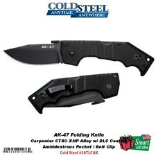 Cold Steel AK-47 Folding Knife, Black Straight Edge Blade, G-10 Handle #58TLCAK