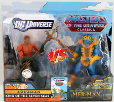 Masters Of The Universe Classic Motu 2 Pack Mer-Man & Aquaman He Man W/Case