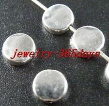 50pcs Tibetan Silver Smooth Flat Spacer Beads 7x3mm 10208