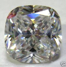 10 x 10 mm 6.01 ct  CUSHION  Cut White Sim Diamond,  WITH LIFETIME WARRANTY