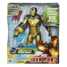 Marvel Sonic Blasting Iron Man 3 Action Figure Glow in the Dark Armor
