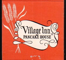 OKLAHOMA CITY OK Village Inn Pancake House Vintage Match Book Cover Old Ad