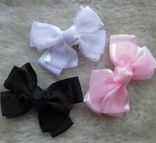 100/20p 60x40mm Polyester Grosgrain Ribbon Bow DIY Appliques Wedding Craft Gift