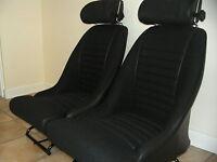 ESCORT MK1 RS1600 RS2000 BETA CLOTH CONTOUR SEATS WITH HEADRESTS MINT