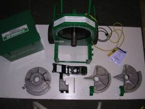 LIGHTLY USED Greenlee 555 Conduit Pipe Bender 3 Shoes 2 Rollers EMT REAL BEAUTY!