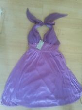 LUCY COLLECTION MARYLIN MONROE STYLE HALTER DRESS PURPLE S rrp£45 bnwt