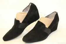 Aquatalia by Marvin K NEW MISMATCH 10 9.5 Paige Womens Suede Wedge Shoe ITALY nf