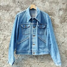 Giacca jeans uomo donna Wrangler Giubbino vintage anni 70 giubbotto denim M