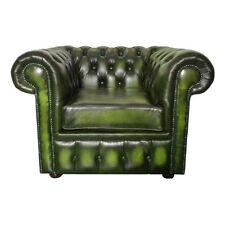 Sedie in pelle verde