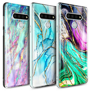 For LG Stylo 6 Case Ultra Slim Marble Phone Cover + Tempered Glass Protector