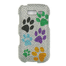 For Samsung Galaxy S BLAZE 4G Crystal Diamond BLING Case Cover Colorful Paws